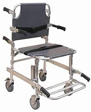 JYLT Medical Stair Chair, Deluxe Evakuierungsstuhl mit 4 Rädern, Transportklappstuhl für Krankenwagen mit Schnellverschlüssen, Tragkraft 400 lb