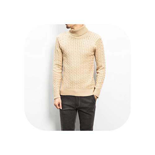 De fee Casual Effen Trui Mannen Winter Heren Coltrui Mannen Trui Plus Size Pullover Man M 4XL 5XL