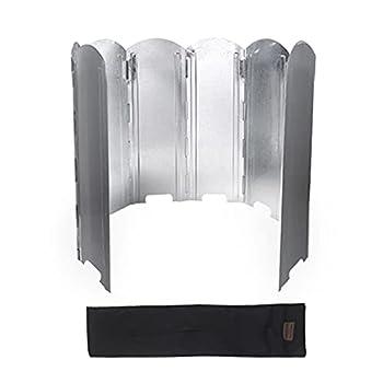 flou Pare Brise Pliant pour Réchaud Camping Pare Vent Pliable pour Brûleur Cuisinière Extérieure Planche Coupe Vent Compacte Légère Déflecteur Pare-Brise Cuisinière Aluminium pour Pique Nique