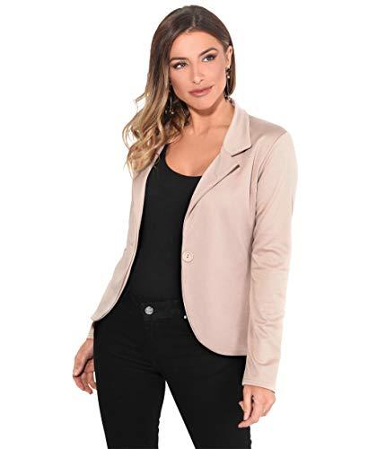 KRISP Smart Casual Stoff Fashion Blazer (Sandstein, Gr.40) (3558-STN-12)