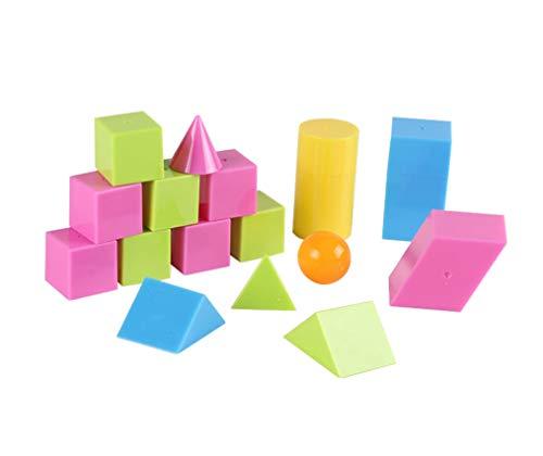 Yx-outdoor 3D Formen Miniatur Set, praktische Wahrnehmung zum Erstellen von Grafiken, Montessori Mathematik Lehrmittel für Geometrie
