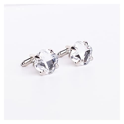 Gemelos de cristal de lujo para marca de hombre, alta calidad, color azul y blanco, gemas para novio, Bestmann, regalo de boda (metal color: 150987)