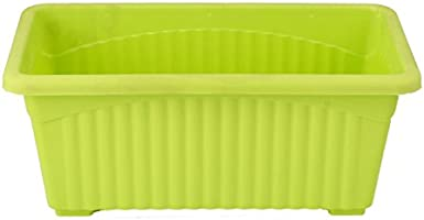 Gardens Need Jupiter Rectangular Planter Set (14-inch, Lemon Green, 3-Pieces)