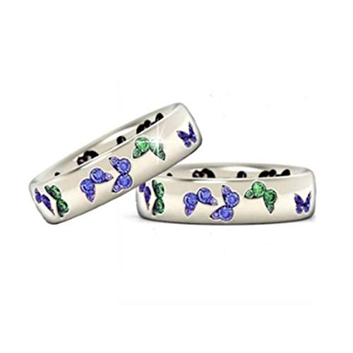 SUNYUAN Jewelry Accessories Jewelry Butterfly Set Zircon Ring Wind Ring