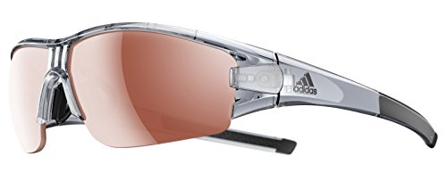 Adidas Eyewear Evil Eye halfrim bas, Gris/transparent, Taille unique