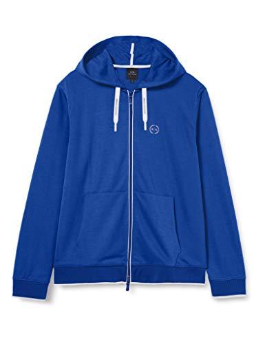 ARMANI EXCHANGE Hooded Sweatshirt Felpa con Cappuccio, Blu Marino, XL...