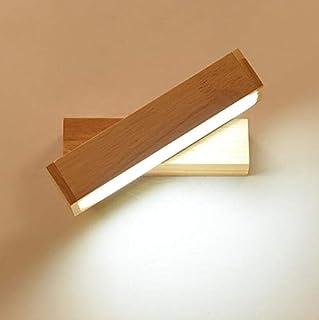 Aplique de Pared LED Lámparas de Pared Modernas de Madera para Interiores, Giratorio 270 ° Iluminación, Apto para pasillos, Escaleras, Hoteles, Mesitas de Noche, Sala de Estar, 20W Blanco Cálido