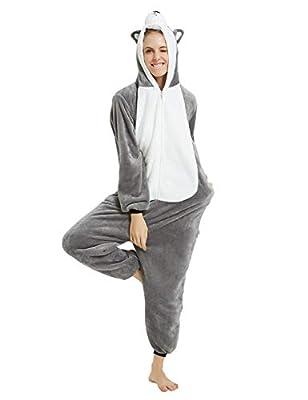 Pijama Animales Disfraz Cosplay Carnaval Halloween Costumes Unisex Mono Pijama entero Unicornio Panda Pingüino Cane-1 L
