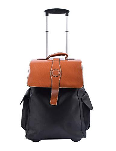 besbomig Reiserucksack Rucksack Trolley Handgepäck Trolleyrucksack mit Rollen für Business Reise und Urlaub,Flugzugelassenes
