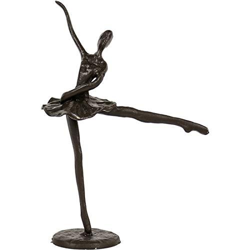 Ballet dans sculptuur moderne kunst Ballet meisje ijzeren beeldje standbeeld Ballerina standbeeld vrouwelijke standbeeld decoratie