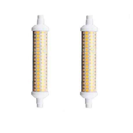 LED R7S 135 mm 12 W Glühlampe 4000 K schwarze Lampe 2 Stück