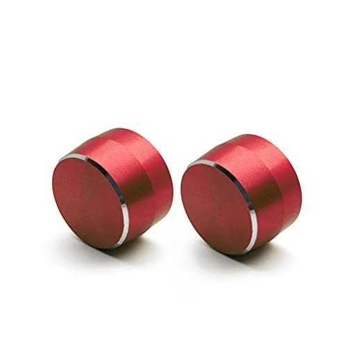 YYAN Cubierta de Interruptor de lámpara de Esfera metálica Ajuste para Mercedes Smart Fortwo 451 2009-2014 Casilla de Equipo de limpiaparabrisas Casquillo Decorativo (Color Name : Red 2PCS)