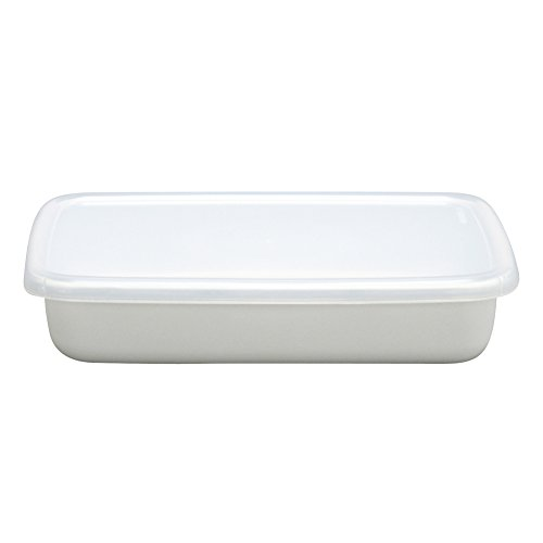 野田琺瑯 ホワイトシリーズ 保存容器 レクタングル浅型S シール蓋付 日本製 WRA-S