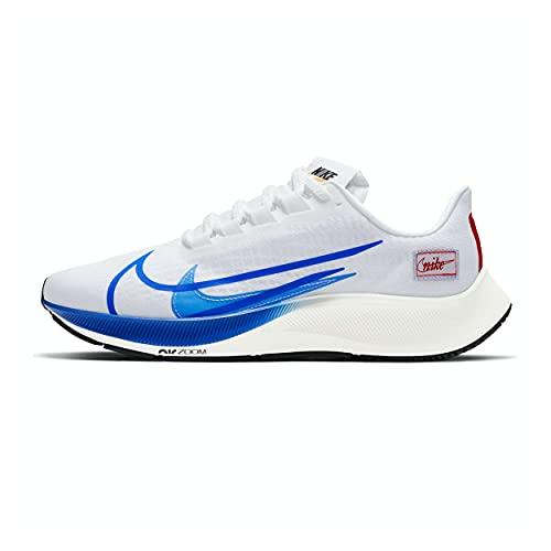 Nike Air Zoom Pegasus 37 Prm, Scarpe da Corsa Uomo, White/Game Royal-Gym Red-Sail-Black, 42.5 EU