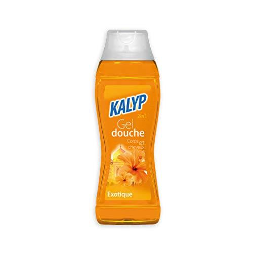 Lot de 2 Gel douche Kalyp 2 en 1 corps et cheveux - 300 ml - Parfum Marine ou exotique - lot de 2 (exotique)
