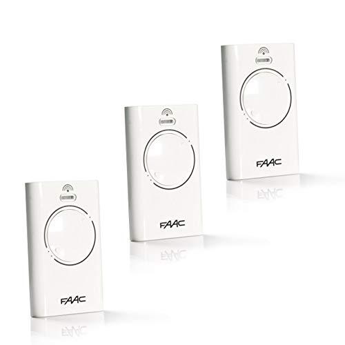 3 pezzi telecomando FAAC XT2 868 SLH LR bianco (787009)