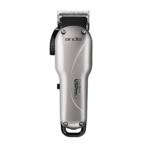 Andis, Tondeuse à cheveux professionnelle sans fil USPRO Lithium, Gris, vendue avec 12 accessoires
