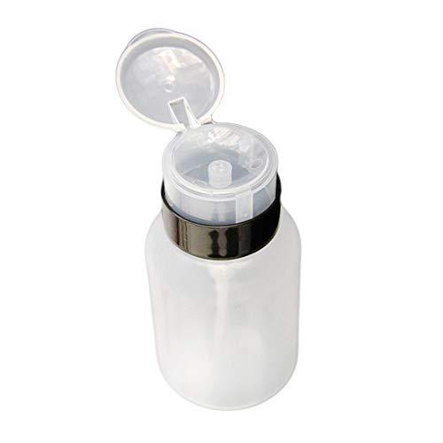 210 ml Leere Klar Pumpe Flüssigkeitsspender Entfernen UV Gel Nagellack Polnischen Reiniger Aceton Flasche Nagellackentferner Werkzeug