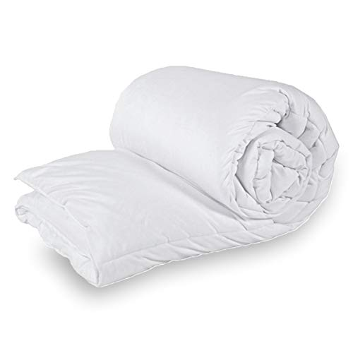 ZA TEX Corovin Filled With Flufiest Anti Allergenic Hollow Fiber UK Made Duvet Quilt TOG 15.5. (Single)
