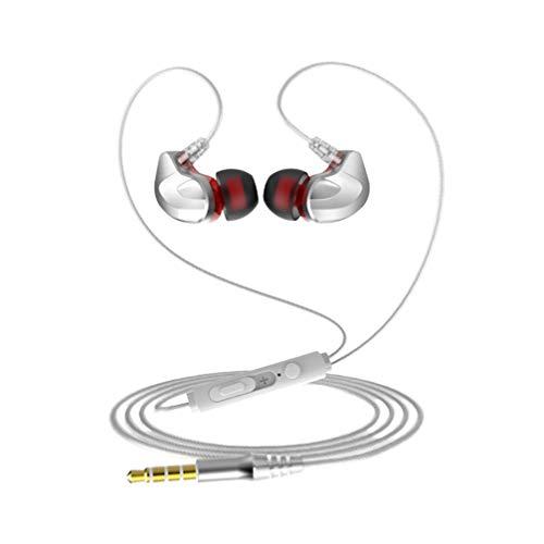 Healifty In-Ear-Kopfhörer, kabelgebunden, Geräuschunterdrückung, Stereo, Sport, für Smartphones, PC und Tablet, ED5129QKJGL176AB3VN2, weiß, 120 * 3cm