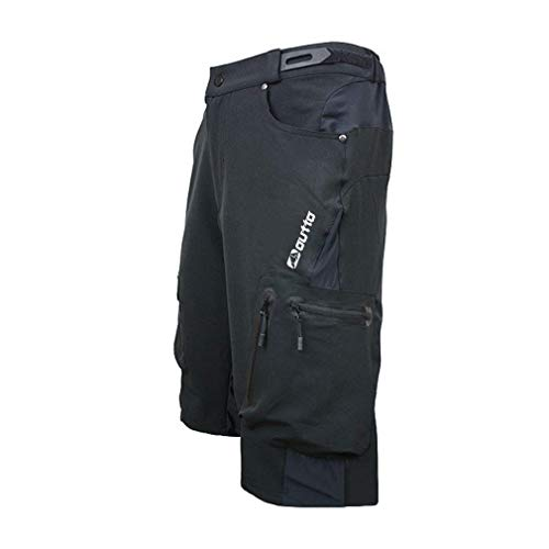 SUKUTU Herren Radlerhose Kurze Hosen MTB Hose Fahrradhose Mountainbike Hose Baggy Bike Shorts