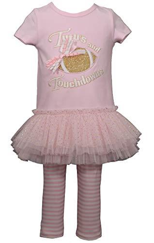 Conjunto de leggings para meninas Bonnie Jean Escolha o Estilo, rosa, 12 Months