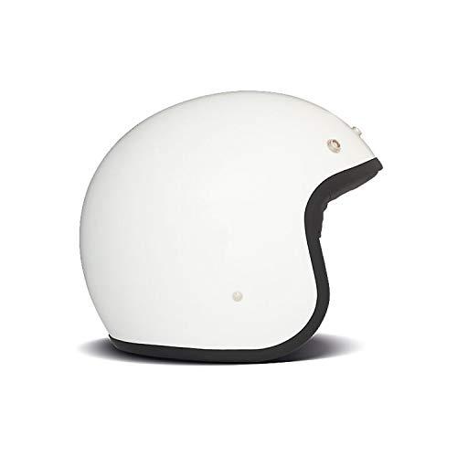 DMD Vintage, Solid White, L, Helm Motorrad