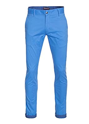 Perruzo Men's Skinny Fit Stretch Casual Chino Pants