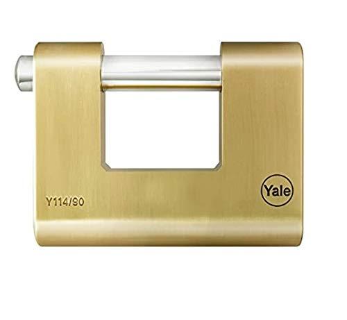 YALE Y114B 90 127 1 Luchetto Rettangolare Ottone mm90, 90 mm