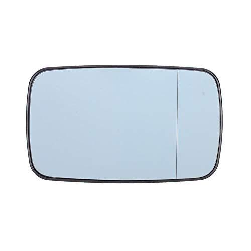 Cristal de espejo de ala Qiilu, vidrio de espejo de puerta calefactada azul derecho, apto para 3 series (E46) 1998–2005