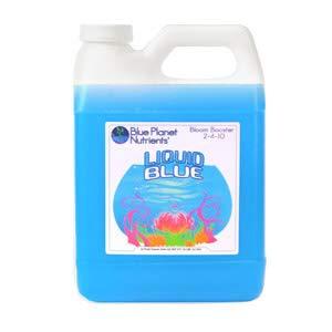 Blue Planet Nutrients Liquid Blue Bloom Booster Quart (32 oz)   Fatten & Harden Buds & Flowers   Hydroponic Aeroponic Soil Coco Coir   for All Plants & Gardens