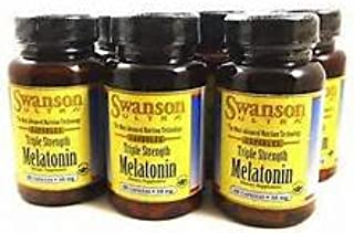 Amazon.com: Triple Strength Melatonin 10mg 240 Capsules - 4 Bottles each of 60 Capsules Made in USA by Swanson Ultra: Health & Personal Care