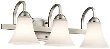 discount Kichler 45513NI Keiran high quality Bath 3-Light, outlet sale Brushed Nickel online sale