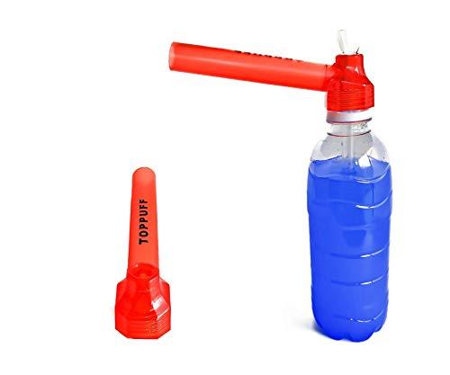 【喫煙具専門けむり屋】 水パイプ ボング 作成キット 選べるカラー5色 ペットボトル を パイプ にできる ガラスパイプ と マウスピース (レッド)