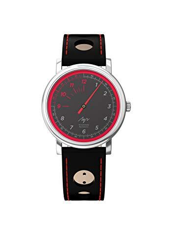 LUCH Armbanduhr mit einhändiger Kollektion, mechanisches Uhrwerk, 1801.1H, schwarz Zifferblatt 71951774