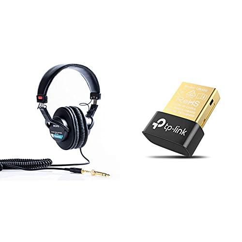Sony Mdr-7506 Auriculares De Diadema Cerrados, Negro + TP-Link Ub400 Nano Adaptador Bluetooth 4.0 USB Dongle para Ordenador, Portatil, Auriculares