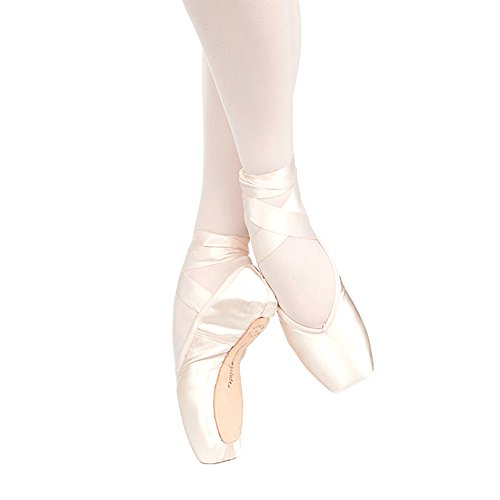 Russian Pointe Brava Pointe Shoes, U-Cut Flexible Medium Shank - Size 43,...