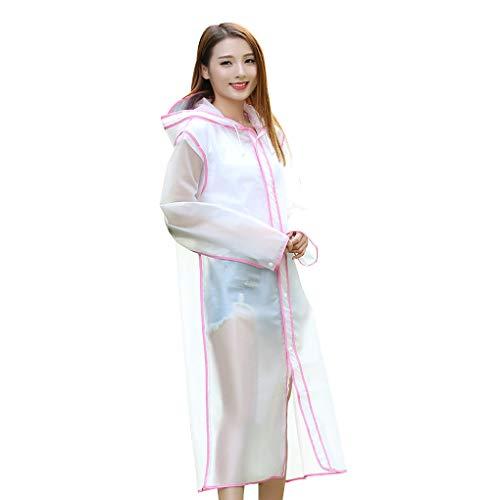 Qinghengyong Eva Plastique Raincoat Filles Femmes Voyage vêtements de Pluie Manteau Waterproof Rainwear Poncho Camping en Plein air Randonnée Imperméable