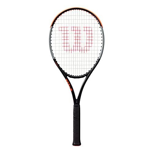 Wilson Racchetta da Tennis Burn 100 LS V4.0, per Giocatori amatoriali ambiziosi, Nero Grigio Arancione, WR044910U2