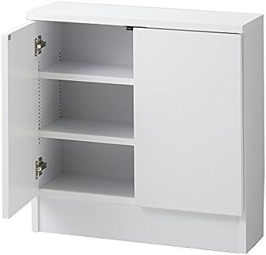 家具 収納 キッチン収納 食器棚 カウンター下収納 高さ60cm!ダイニングカウンター下収納 奥行25幅60cm(2枚扉) 588535(サイズはありません ア:ホワイト)