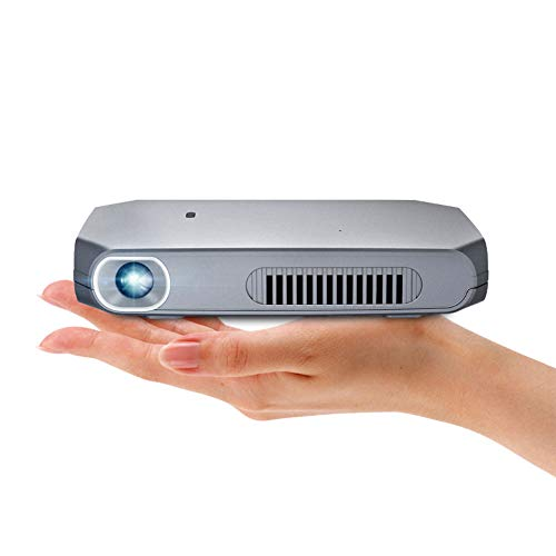 Zhengpin Mini Pocket Projector, Full HD Proyector, Short Throw DLP Projector 1200 Lumens Best for Education Business Presentation Home Entertainment