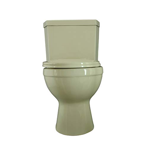 Renovator's Supply Biscuit China Round Dual Flush Bathroom Corner Toilet