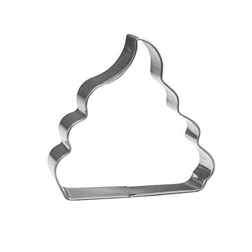 Keewah 7.3 cm Poop Emoji Cookie Cutter - Roestvrij staal