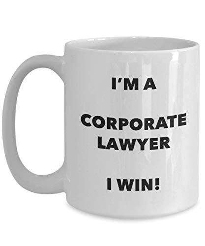 N\A Soy un Abogado corporativo Taza ¡Gano! - Taza de café Divertida - Novedad Cumpleaños Navidad Gag Idea de Regalo