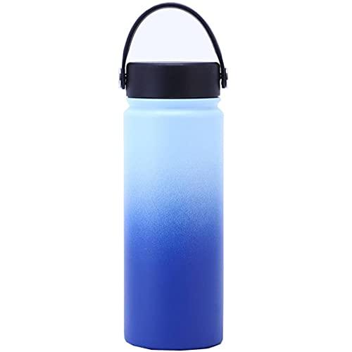 NC Thermos Flask 18 Oz Borraccia Sportiva Sottovuoto A Doppio Strato in Acciaio Inossidabile da Viaggio per Viaggi Sportivi All'aperto, Colore Arcobaleno