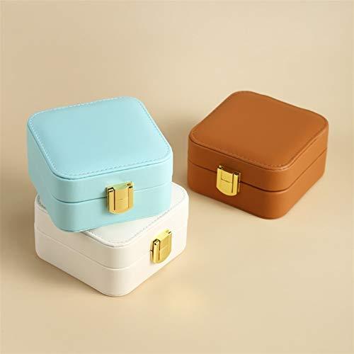 Multifuncional Caja de joyas, cuero PU Mini joyas de joyería para mujeres, organizador de joyería portátil, utilizada para el almacenamiento de joyería, adecuado para regalos para niñas y damas, 9.5 *