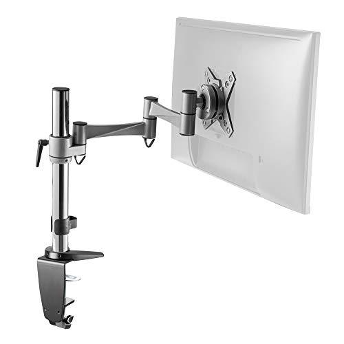 RICOO TS3211 Monitor-Ständer Schwenkbar Neigbar 13-27 Zoll (33-69cm) Monitor-Halterung Tisch-Halterung Stand-Fuß VESA 75x75 100x100 Silber