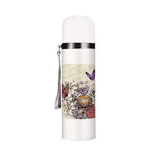 Termo reutilizable con aislamiento al vacío, botella de agua a prueba