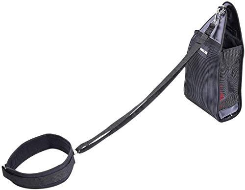 GORILLA SPORTS® Gewichtsschlitten-Set mit verstellbaren Zuggeschirr – Speed Sled Sac für Variables Gewicht bis 100 kg belastbar