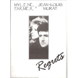Mylene Farmer & J L Murat : Regrets Chant/Piano (Feuillet) [Partition]